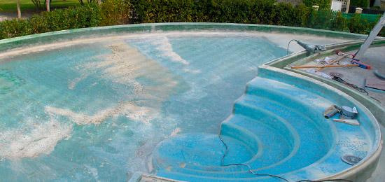 Fiberglas piscinas a medida