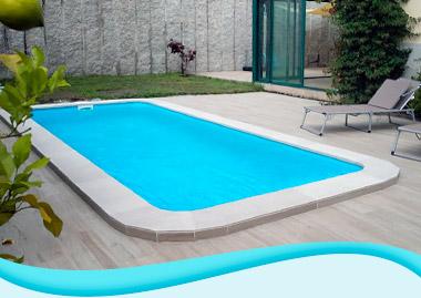 piscinas rectangulares de fibra de vidrio